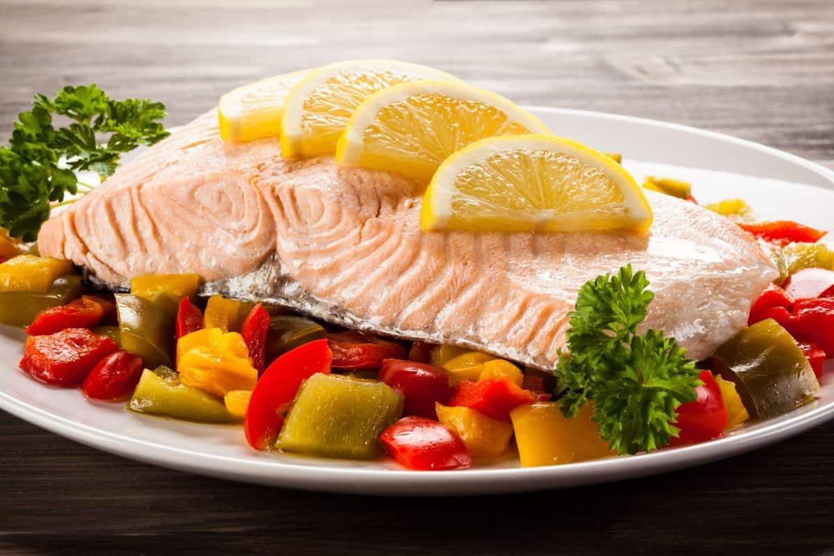 salmon marinade, summer veggies, grilled veggies, sesame ginger salmon, salmon recipe