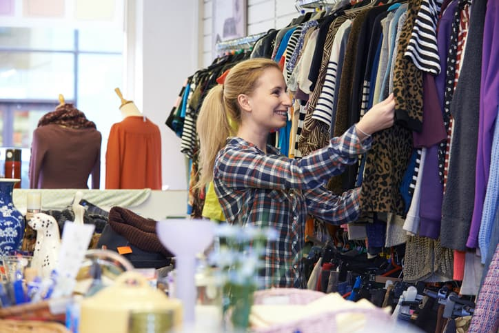 thrift shops, secondhand clothes