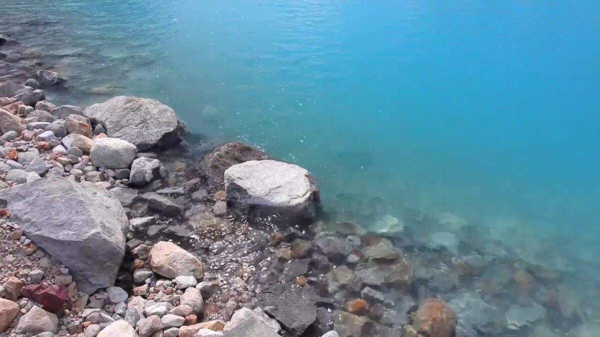 calm water rippling over rocks
